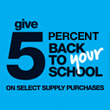 Office Depot: give 5 percent back to your school on select supply purchases